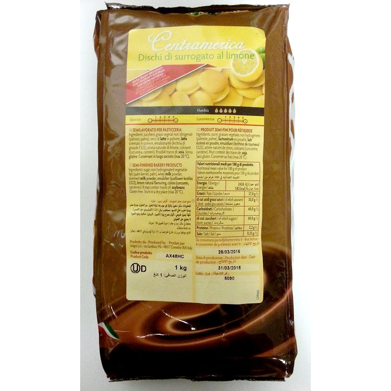 Citrónová polevová čokoláda 1 kg